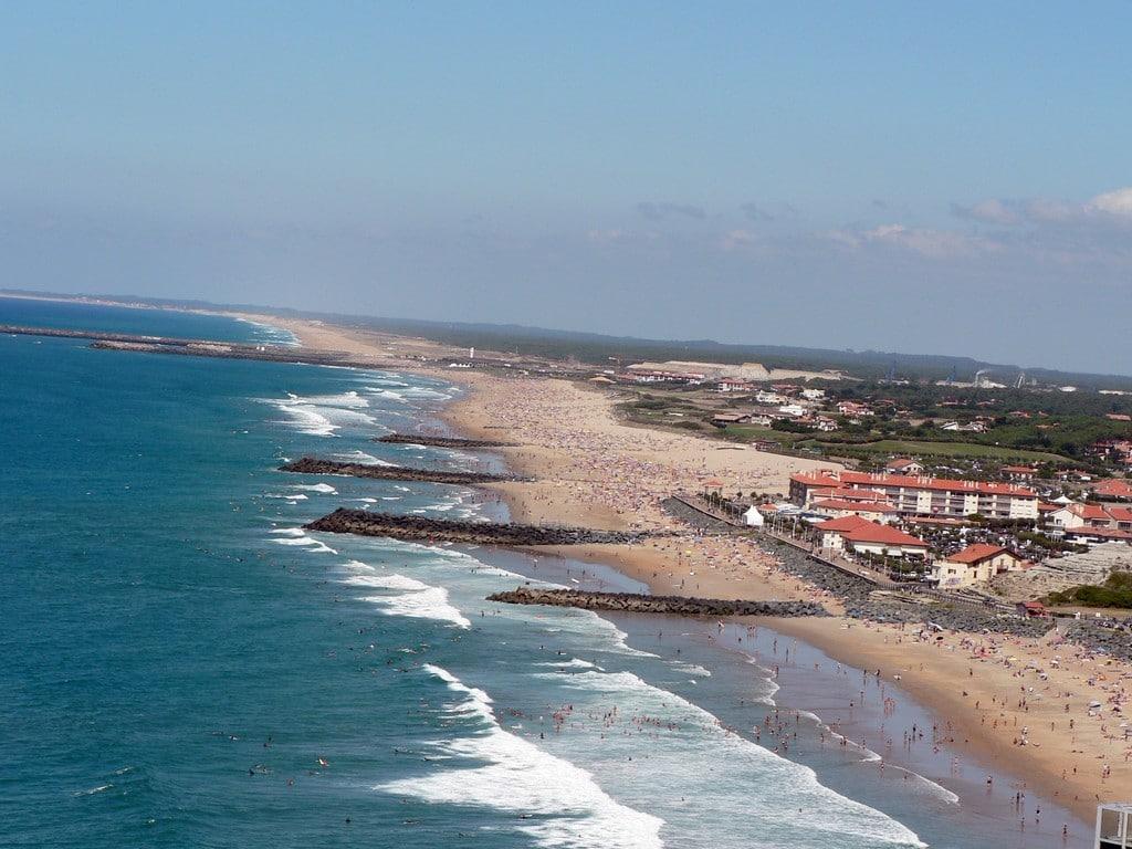 Anglet les plages aérien ©CDT64